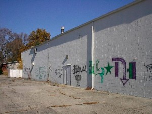 KMart graffiti before
